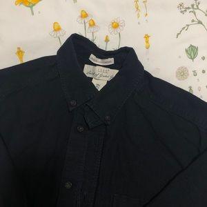L.O.G.G by H&M Regular Dark Blue Collared Shirt